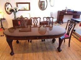 Cherry Dining Room Furniture Dining Table Chippendale Style Dining Room Set Antique Table And
