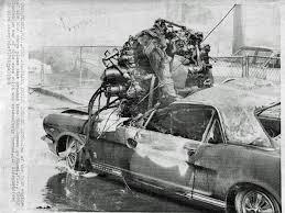 Black Mustang Crash Mustang Smashed By Airplane Motor In 1969 Crash Stangtv