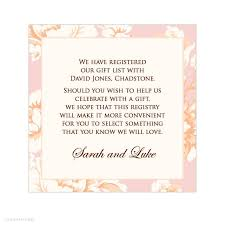 gift registry for bridal shower bridal shower registry wording 99 wedding ideas