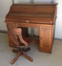 antique oak roll top desk and chair circa 1920 ebay