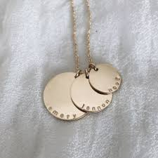 personalized gold jewelry disc necklace made by