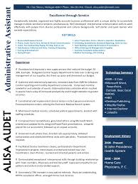 examples of resumes for administrative assistants administrative assistant resume january 2015