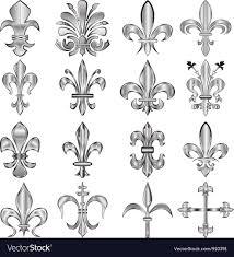 fleur de lis set small royalty free vector image