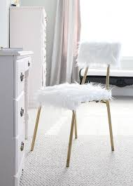 Diy Desk Chair Diy Fur Desk Chair One Room Challenge Week 5 Less Than