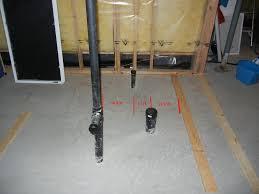 plumbing rough basement bathroom plumbing rough in diagram home interior design