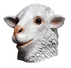 rubber halloween costume props latex goat mask latex sheep head