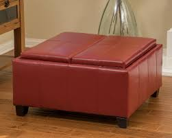 7 stylish leather ottomans in red cute furniture