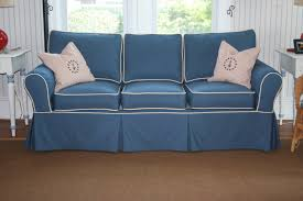 sofa slipcover using sunbrella sapphire blue with vellum cording sofa slipcover using sunbrella sapphire blue with vellum cording nautical and fun pillows too