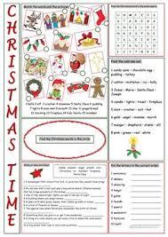 22 free esl christmas time worksheets