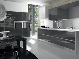 Modern Gray Kitchen Cabinets Modern Glossy Grey Kitchen Cabinets And White Countertop Office
