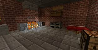 a brick house with fireplace minecraft project