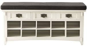Southport Shoe Storage Bench With Cushion White Storage Bench With Cushion Treenovation