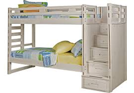 Bunk Bed For 3 Creekside Stone Wash Twin Twin Step Bunk Bed Beds