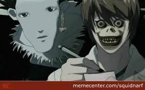 Memes Center - anime face swaps 1 deathnote squidnarf meme center
