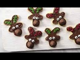 hershey u0027s kisses reindeer sugar cookies youtube