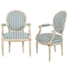Vintage Settees For Sale French Louis Xvi Style Distressed White Painted Vintage Armchairs