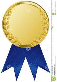 blue and gold ribbon award ribbon congratulations clipart