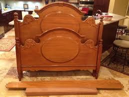 Red Oak Bedroom Furniture by Lexington Victoriana Queen Headboard Footboard Side Rails