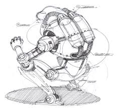 sketch a day 120 crouching robot sketch a day sketches by