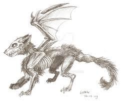 zombie wolf thing sketch by liedeke on deviantart