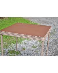 34 folding card table great deal on vintage folding card game table metal vinyl top durham