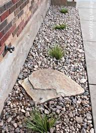 rocks in garden bed
