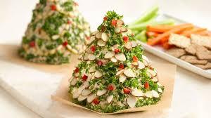 holiday tree shaped cheese ball recipe bettycrocker com