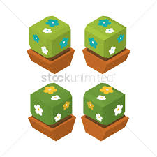 isometric potted plants vector image 1609269 stockunlimited