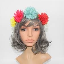 big flower headbands new fashion colorful big flower headbands for women bohemia summer