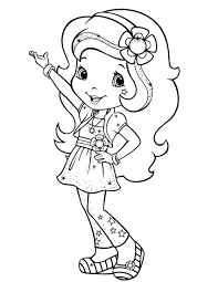 strawberry shortcake colouring pages to print funycoloring