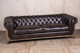 used chesterfield sofa brown leather chesterfield sofa buttoned three seater sofa in