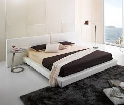 Simple Bed Designs by Modern Big Headboard Simple Bed Designs White Leather Surgery Bed