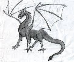pencil sketched dragon by dragonfire9856 on deviantart