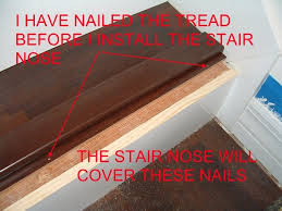 installing stair nose for diy stair installation ta bay fl