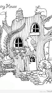 fairy house coloring pages timykids