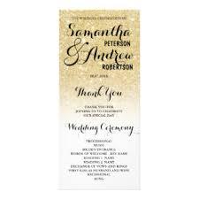 gold wedding programs wedding programs zazzle