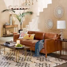 Hamilton Leather Sofa   Tan   west elm