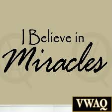 i believe in miracles wall decal quote vinyl wall art home decor