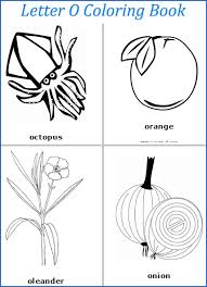 letter o words coloring page letters m n o pinterest