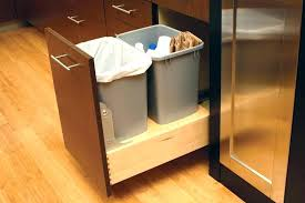 under sink trash pull out under sink trash can pull out double waste bin cabinet from trash