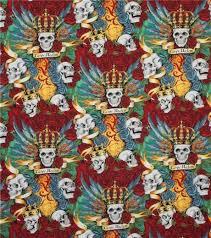 colorful henry fabric skull royal kawaii fabric shop