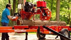 wood mizer lt35 manual portable sawmill youtube
