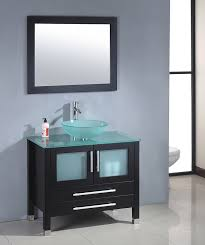 Frosted Glass For Bathroom Mtd Modern Glass Single Bathroom Vanity Mtb 8111b Frosted Glass Sink