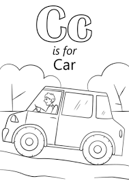 coloring pages for letter c c is for car coloring page genkilife info