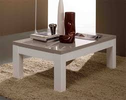 table basse roma laqué bicolore blanc gris