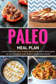cuisine paleo paleo meal plan 1 week of and healthy meals