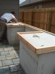Outdoor Cabinets And Countertops How To Build Outdoor Kitchen Cabinets Summer Design Building