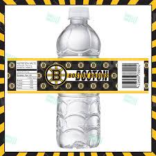 boston bruins home decor sports invites boston bruins hockey bottle labels