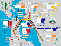 Bart System Map by California Bart Map California Map
