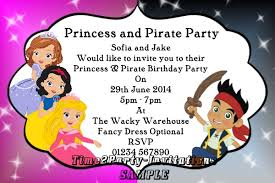 princess and pirate party invitations cimvitation